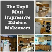 Top 5 Before And After Kitchen Makeovers Collage