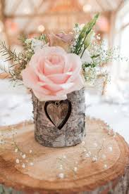 Pink Flower Centerpieces Details For 2017 Rustic Weddings