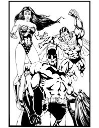 Superhero Batman Superman And Wonder Woman Coloring Page