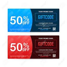 Promo Code. Vector Gift Voucher With Coupon Code. Premium EGift..