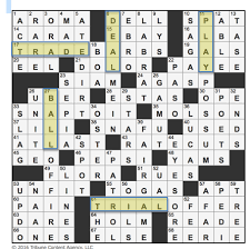 Christmas Tree Type Crossword by L A Times Crossword Corner Wednesday December 21 2016 Ron Toth