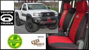 Toyota Tacoma: Seat Covers By Wet Okole - YouTube Autozone Truck Seat Covers Velcromag Custom Car Seat Covers For Pickup Trucks Amazoncom Bdk Hunting Pink Camo 2 Front Bench Toyota Truck Bench Seat For Wet Okole High Quality Durable Chevy Bucket 12007 Ford F2f550 2040 Split With Adjustable Pickup Trucks Seats 86 Cute Interior And S Camouflage For Built In Belt