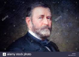 Oil Painting Portrait Of President Ulysses S Grant Eighteenth United States By Thomas LeClear 1880