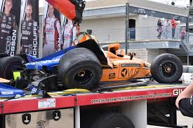 100 Two Guys And A Truck Indianapolis Fernando Lonso Crashes During Day Two Of 500