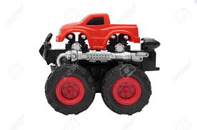 100 Bigfoot Monster Truck Toys Big Toy With Big Wheels Isolated
