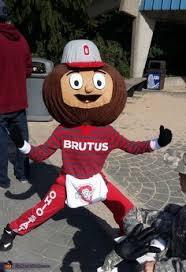 Ohio State Brutus Pumpkin Stencil by Coolest Homemade Ohio State Buckeye Brutus Mascot Costume Mascot