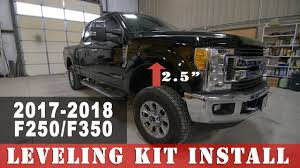100 Crescent Ford Trucks 20172019 F250 Superduty Leveling Kit Install Project Leveled On