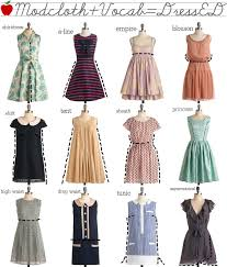 modcloth dress ed helpful for knowing what type of dress your