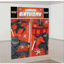 Halloween Scene Setters Canada by Ninja Birthday Party Supplies Canada Open A Party