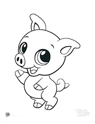 Animal Coloring Page Books Baby Farm Animals Pages Cute Dragoart