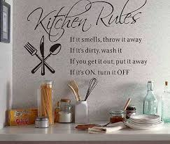 Wall Quotes Kitchen Rules Quote Sticker