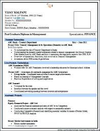 Mechanical Resume Format For Freshers
