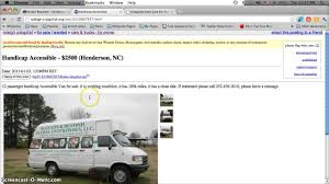 Craigslist Handicap Vans For Sale By Owner In North Carolina - YouTube