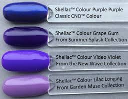 Cnd Shellac Led Lamp by Colour Comparison Of Shellac Video Violet From The Cnd New Wave