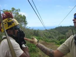 Zip Line Through Paradise This Is Work What A Job Zipline Guide