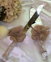 SaleRustic WeddingWedding Cake Knife SetBurlap WeddingLace KnifeBridal AccessoriesWedding Accessories
