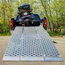 100 Aluminum Loading Ramps For Pickup Trucks Discount 8 Ft Folding 3pc EZRizer Motorcycle