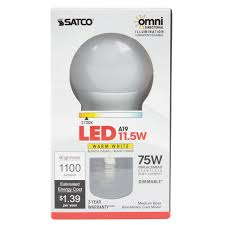 Satco Led A19 Lamps by Satco S9810 11 5 Watt 75 Watt Equivalent Frosted Warm White