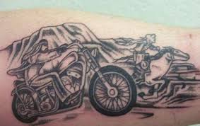 Startling Racing Tattoo Design