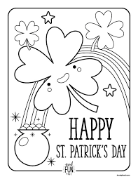Free Printable Coloring Pages St Patrick S Day Crate Kids Blog Adult Books