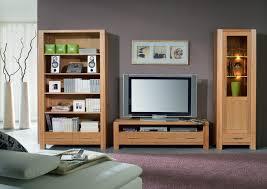 wohnwand wohnzimmerwand bücherregal vitrine tv regal kernbuche massiv geölt