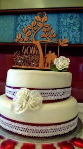Happy 40 Th Anniversary Cake Topper