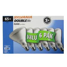shop sylvania 6 pack 65 watt indoor dimmable soft white br40