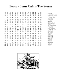 Jesus Calms The Storm Word Search