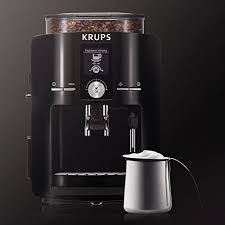 KRUPS EA8250 Espresseria Super Automatic Espresso Machine Coffee Maker With Built In Conical Burr Grinder 60 Ounce Black