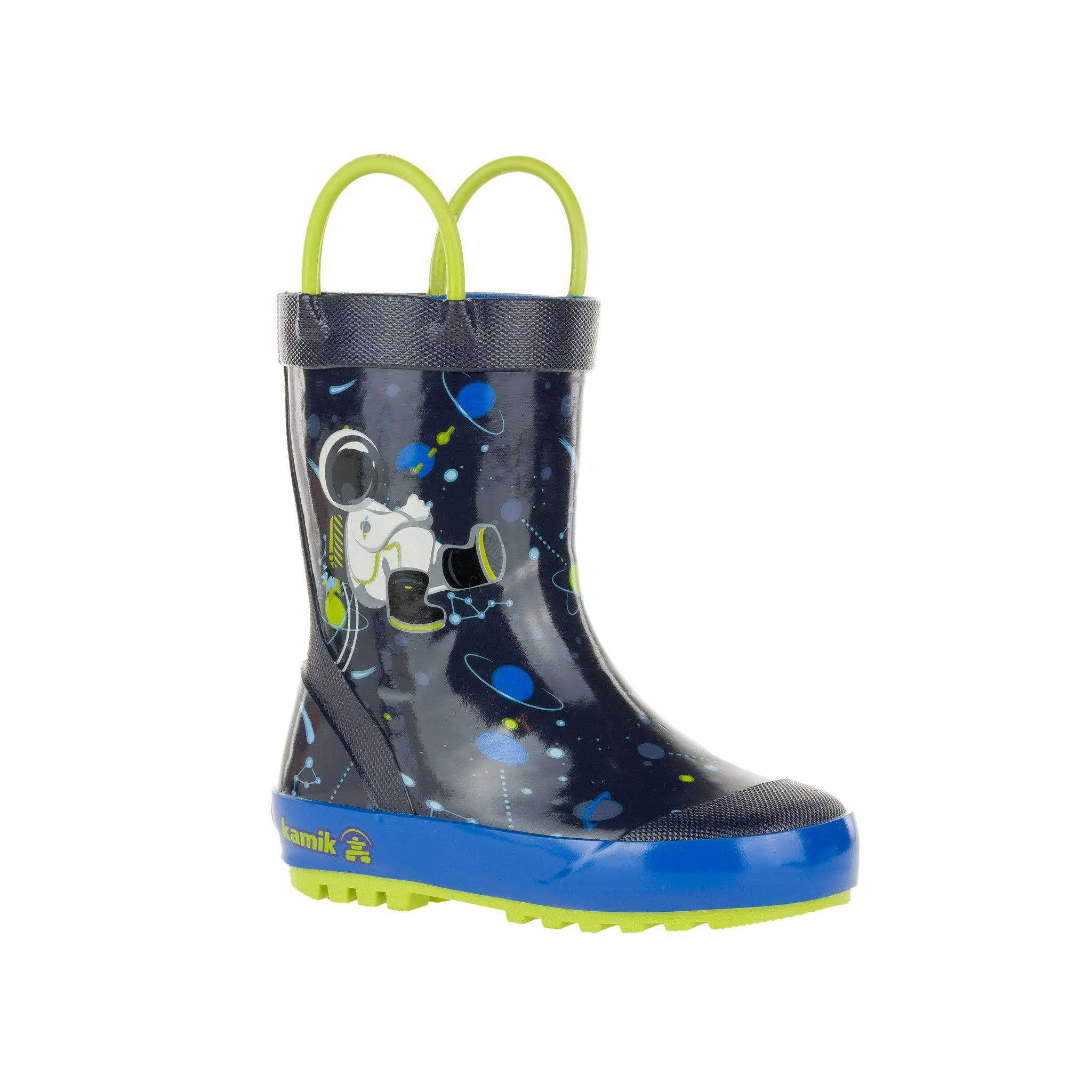Kamik Kids Orbit Rain Boots - Navy, 7 US