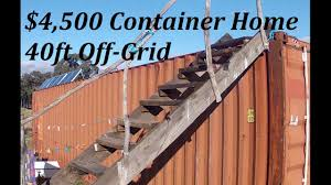 100 Off Grid Shipping Container Homes DIY 4500 40ft Home Survival