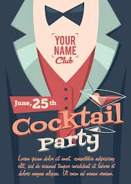 Vintage Retro Cocktail Birthday Party Invitation Invite Flyer Postcards 5