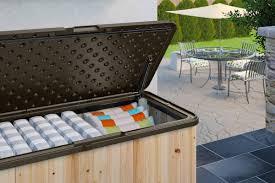 Suncast Db12000 Deck Box 127 Gallon by Suncast Deck Box Suncast Horizon Premium 50 Gallon Deck Box Db5000