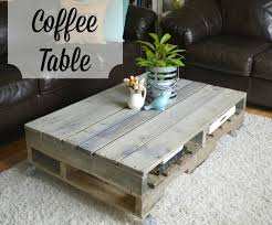 Painted Pallet Coffee Table The Junk Nest DIY Les