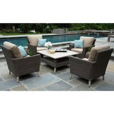 Canopy Noble 5-Piece Resin Wicker Patio Conversation Set With Sunbrella  Canvas Heather Beige Cushions Outdoor Wicker Chairs Table Cosco Malmo 4piece Brown Resin Patio Cversation Set With Blue Cushions Panama Pecan Alinum And 4 Pc Cushion Lounge Ding 59 X 33 In Slat Top Suncrown Fniture Glass 3piece Allweather Thick Durable Washable Covers Porch 3pc Chair End Details About Easy Care Two Natural Sorrento 5 Cast Woven Swivel Bar 48 Round Jeco Inc W00501rg Beachcroft 7 Piece By Signature Design Ashley At Becker World Love Seat And Coffee Belham Living Montauk Rocking