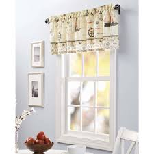 Kitchen Curtains At Walmart by Country Kitchen Valances Curtains Walmart Taylor Rod Pocket Window