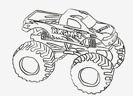 Easy Monster Truck Coloring Page | Printable Coloring Page For Kids