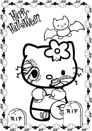 Scary Hello Kitty Coloring Pages Cartoon Network Halloween Character Full Size