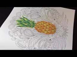 Quickie Pineapple Tropical World Adult Coloring Book
