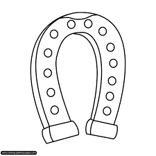 Horseshoe Coloring Page With