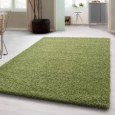 hochflor shaggy teppich für wohnzimmer langflor pflegeleicht schadsstof geprüft 3 cm florhöhe oeko tex standarts teppich maße 160x230 cm farbe grün