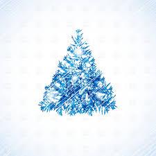 Blue Christmas Tree Clipart