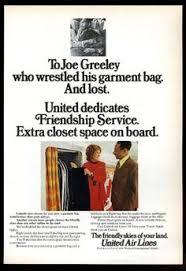1973 United Airlines Stewardess On Plane Photo Vintage Print Ad