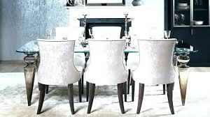 Gray Upholstered Dining Room Chairs Chair Cushioned Designs