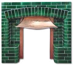 stanshall arts and crafts tiled fireplace insert edwardian