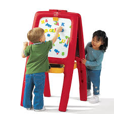 Step2 Art Master Desk And Stool by Easel For Two Kids Easel Step2