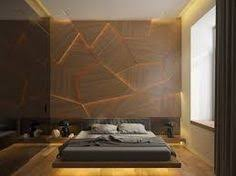 This Bedroom Takes Texture To The Next Level Using Molded Wall Panels Combined With Creative Dynamic Lighting
