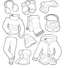 Clothes Coloring Pages Winter Page Free For Kids Summer Sheets