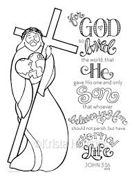 God So Loved The World Coloring Page 85X11 Bible Journaling Tip In 6X8
