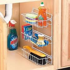 kitchen organization for the sink cleaning products
